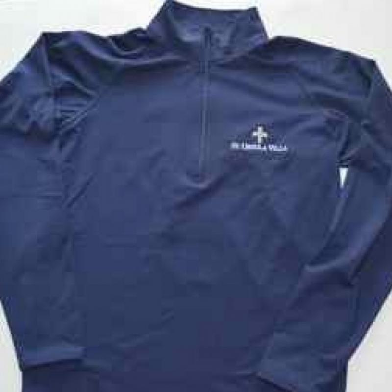 JR HIGH-1/4 Zip Poly with CROSS Logo