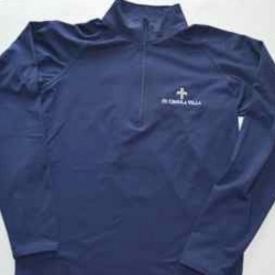 1/4 Zip Poly with CROSS logo