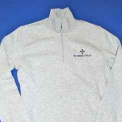 JR HIGH- 1/4 Zip  Sweatshirt with CROSS logo