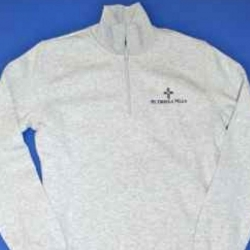 1/4 zip sweatshirt with CROSS logo