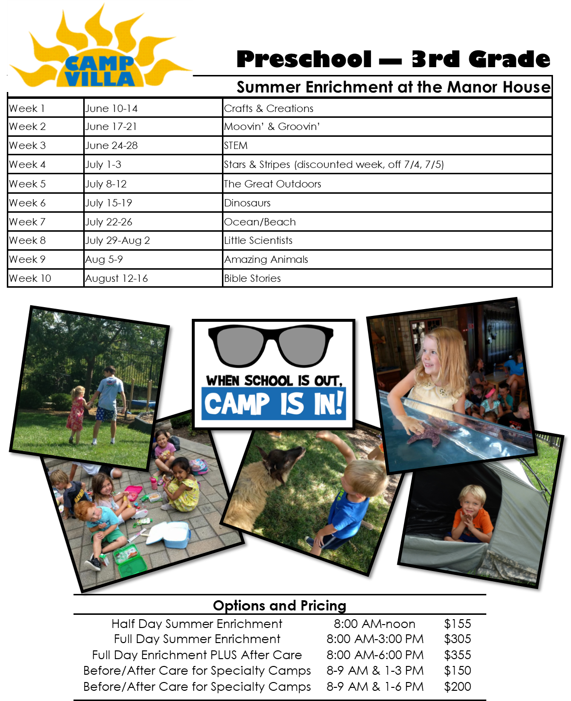 Summer-Long Enrichment Opportunities (1st-3rd Primary) 2019